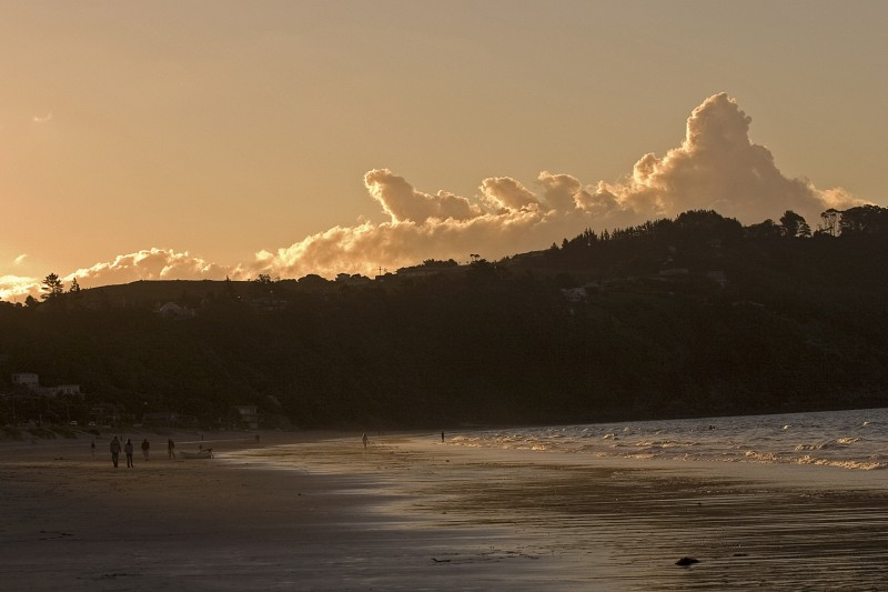 Sunset on Onetangi Beach