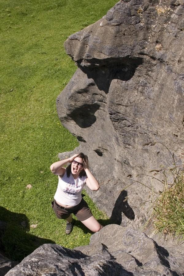 Aurelie inside the crazy rocks