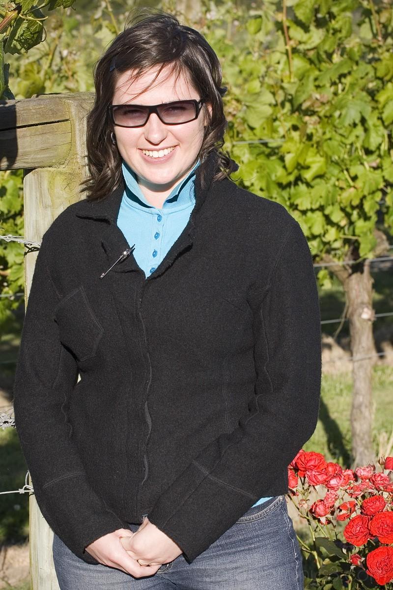 Aurelie at the Vineyard