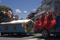 Christmas parade in New Zealand