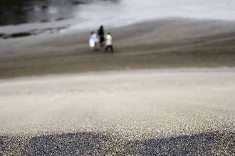 Walking along the sand dunes