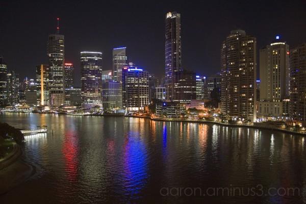 Brisbane downtown at night