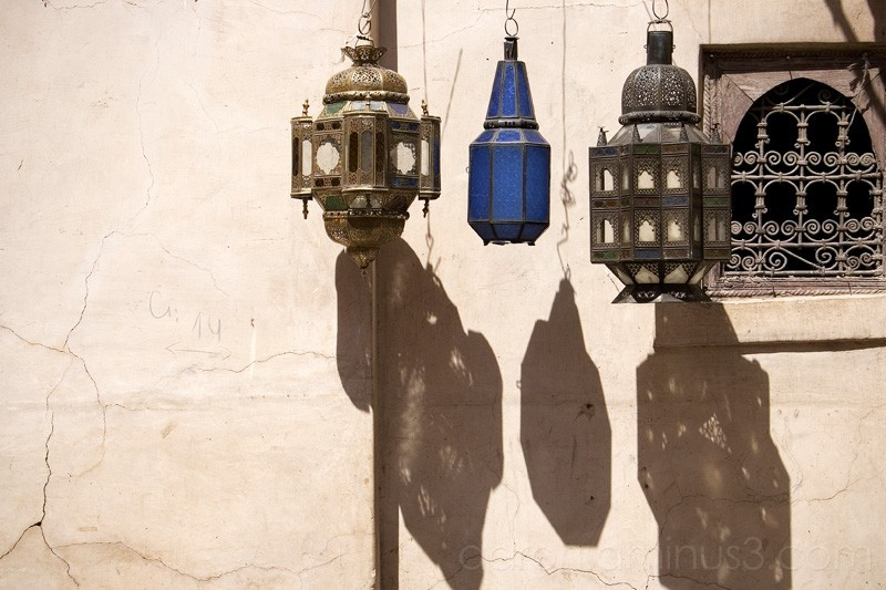 Hanging lamps in Marrakech
