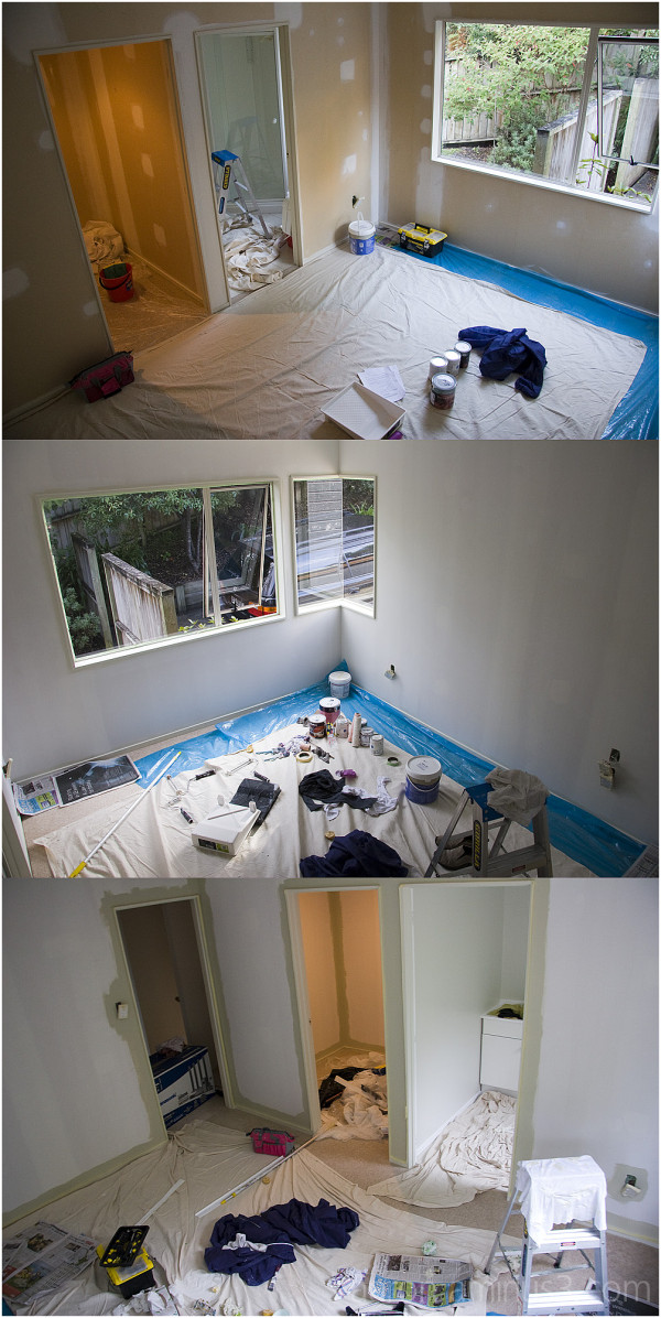 Painting our bedroom - construction