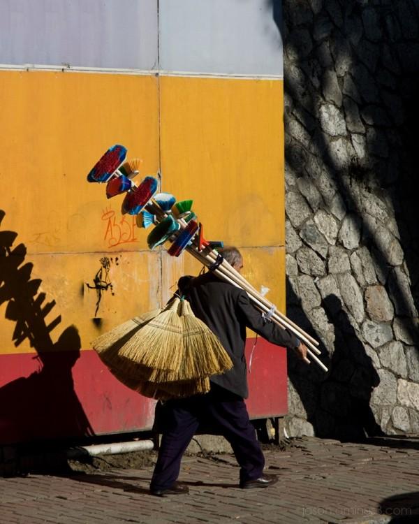 Turkish broom man