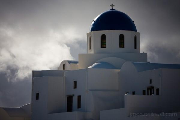 Santorini Church Dome