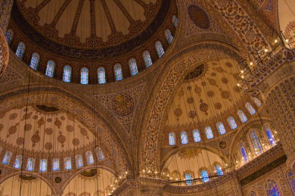 Blue Mosque Ceiling Detail