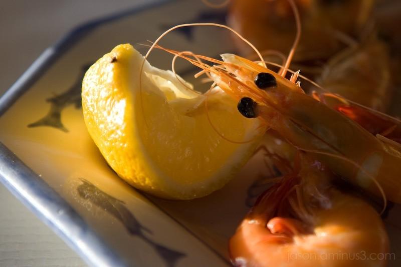 shrimp lemon pillow