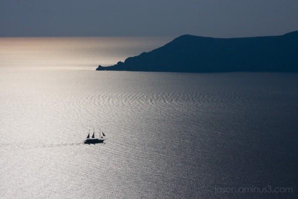 boat on Mediterranean