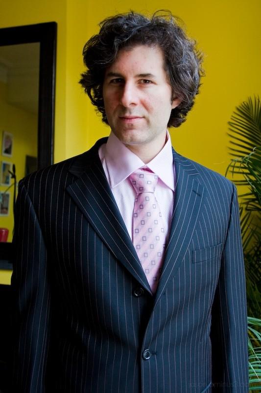jason pink shirt and tie