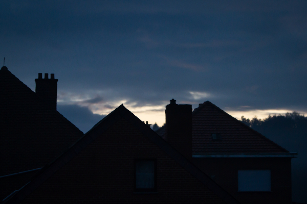 moody rooftop