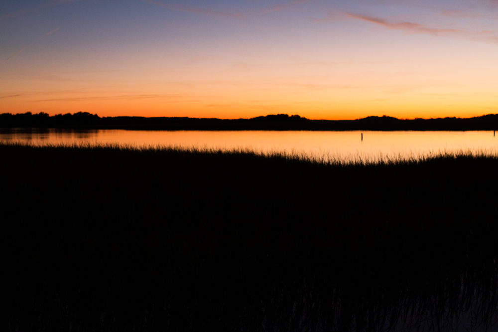 sunset marsh