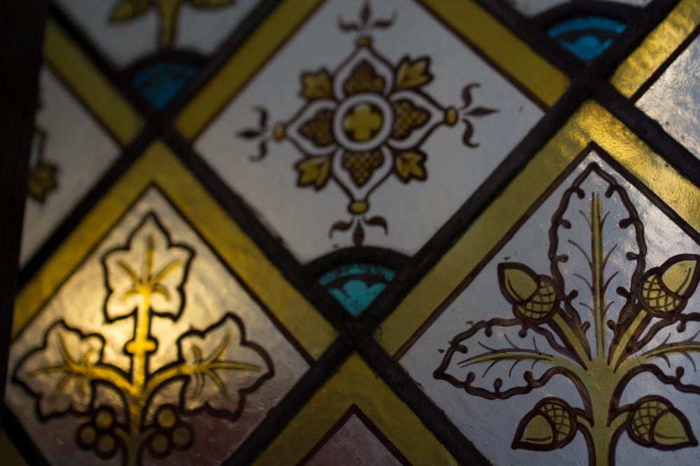 Bruges church window