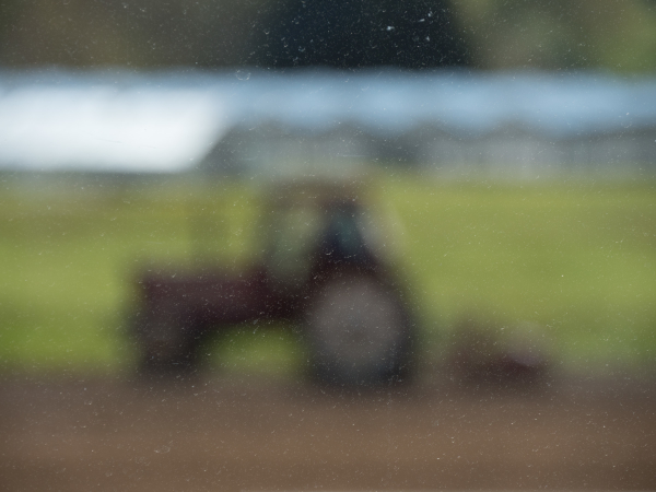 blurry tractor