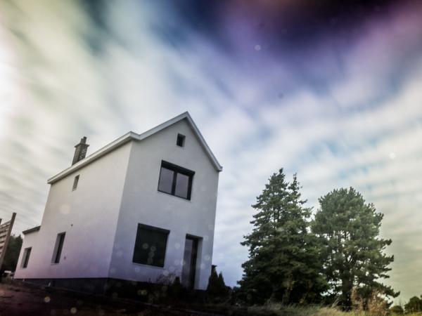 long exposure house