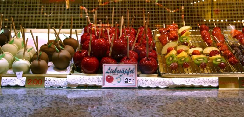 apples fruit German Oktoberfest display