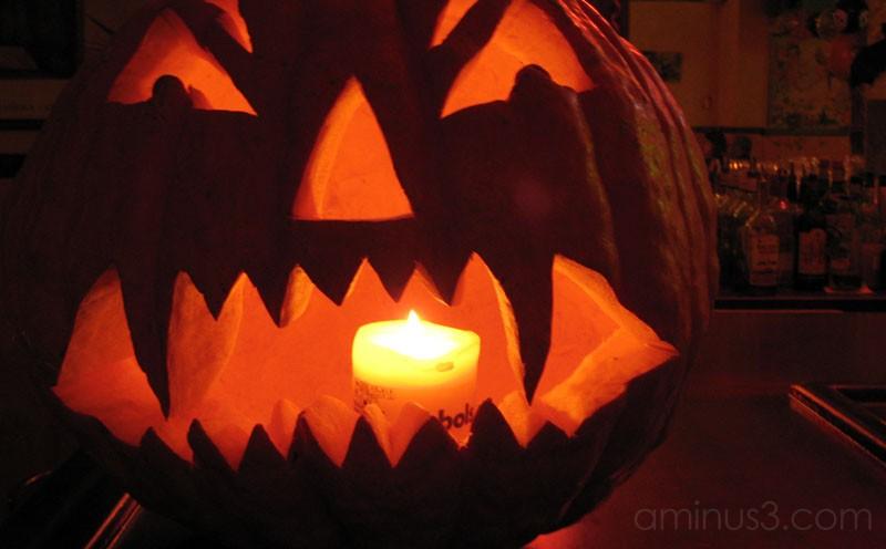 pumpkin shot in bar