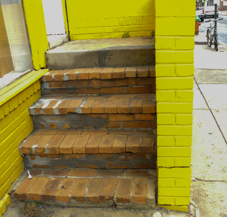 Yellow Wall and Steps