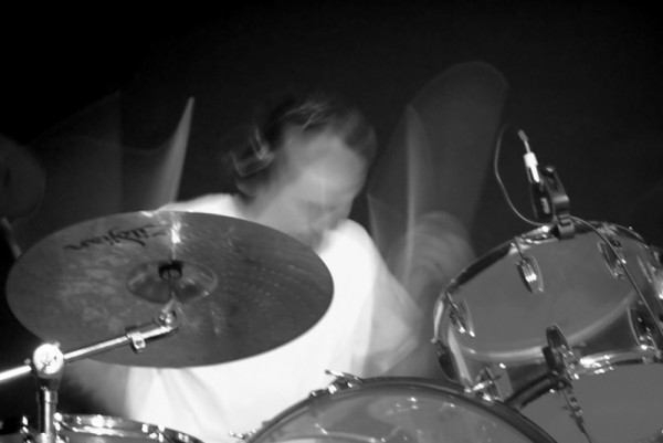 The drummer--creating HELL!