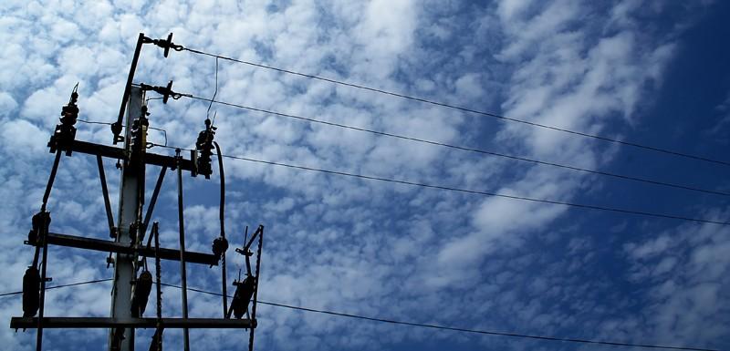 Sky electric pole