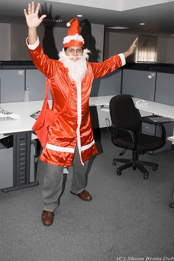 Santa at my office : Work (2/3)