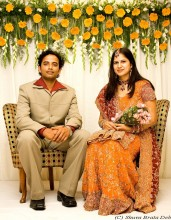 Abhishek and Rakhi