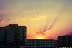 Sunset over Hitec City, Hyderabad