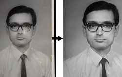 B/W photo restoration