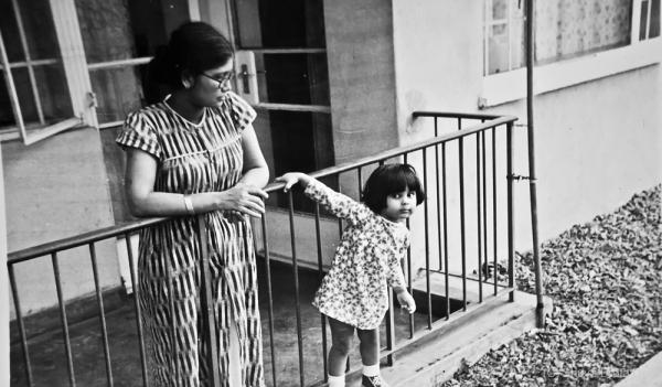 Lipika and her mom @ ~1980