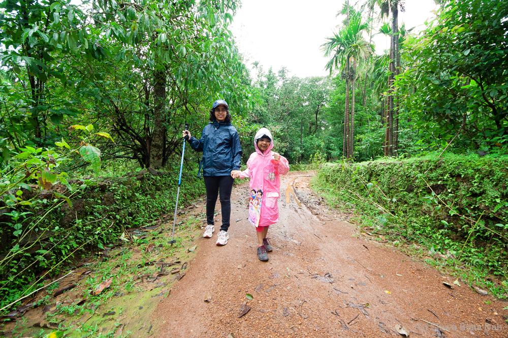 When did you last trek in the rain?