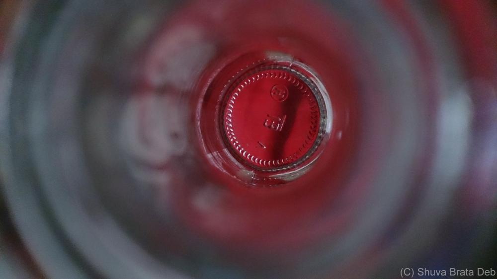 View into a Bacardi Breezer bottle