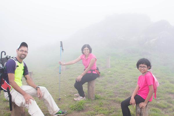 Trekking at Lakshmi Hills Munnar. Sunlight to Fog!