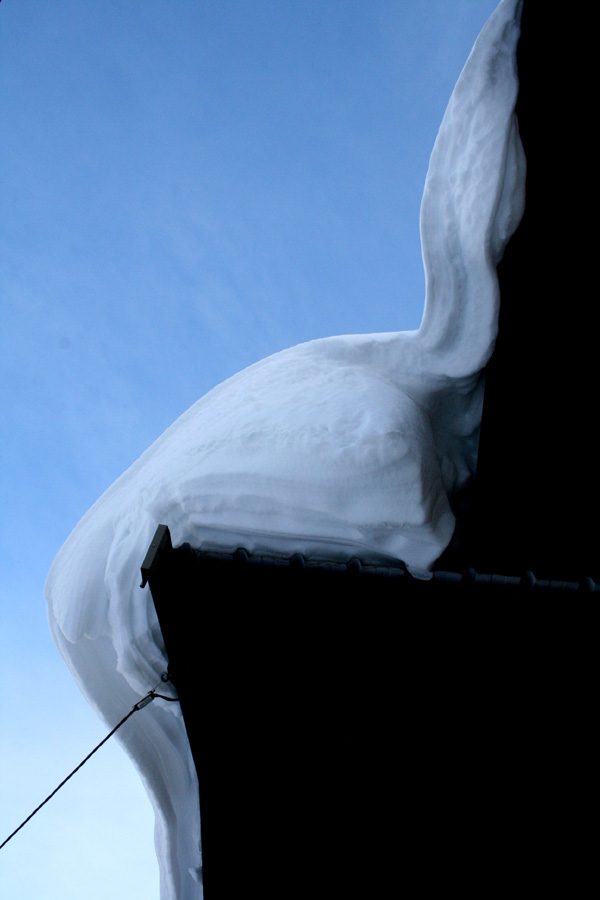Snow on a roof