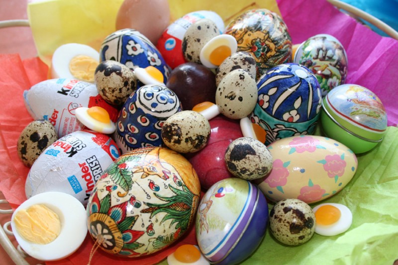 Lots of eggs for easter