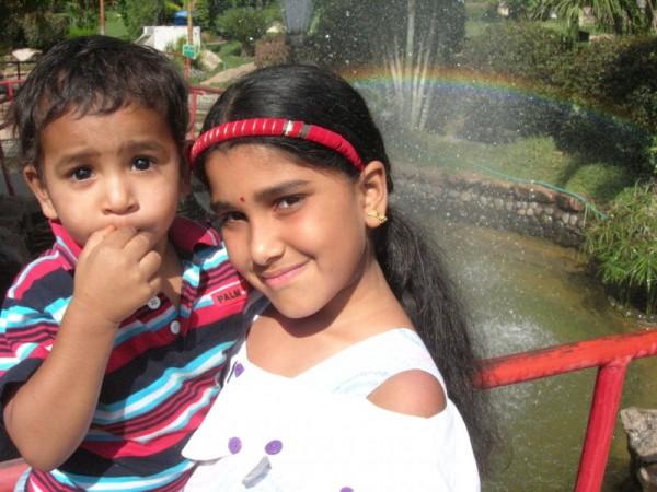 My son Tej and My niece Lasya