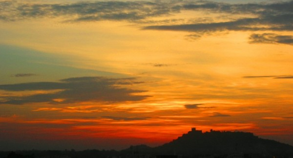 Golkonda Fort at sunset