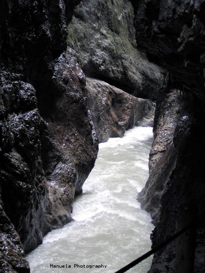Partnachklamm gorge rapid river germany bavaria