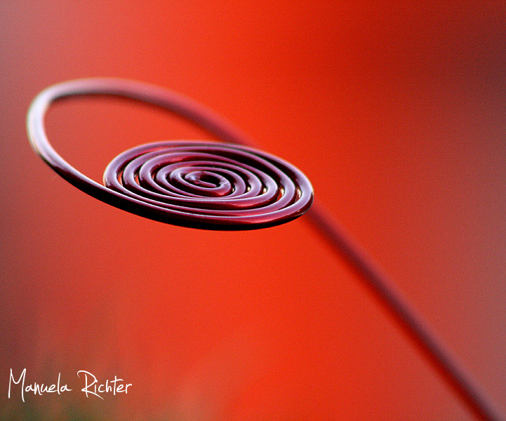 spiral red metal object germany