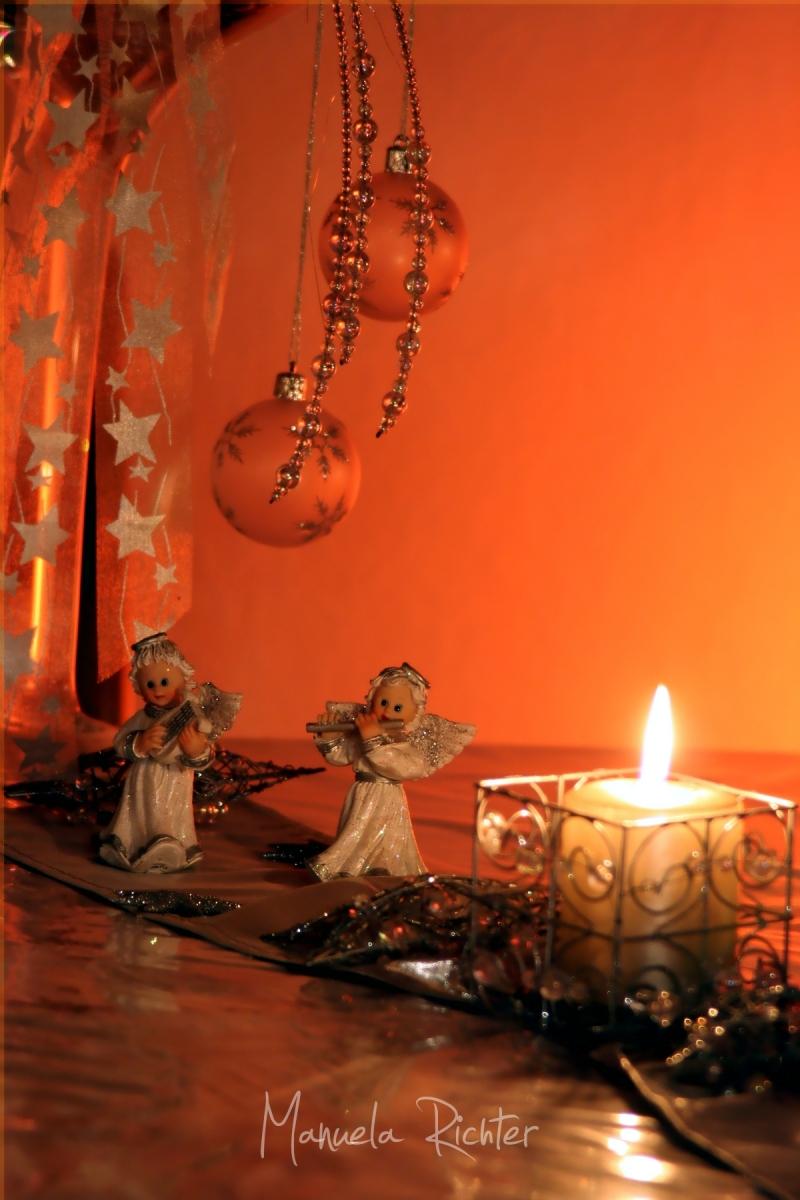 christmas noel navidad candle angels ornaments