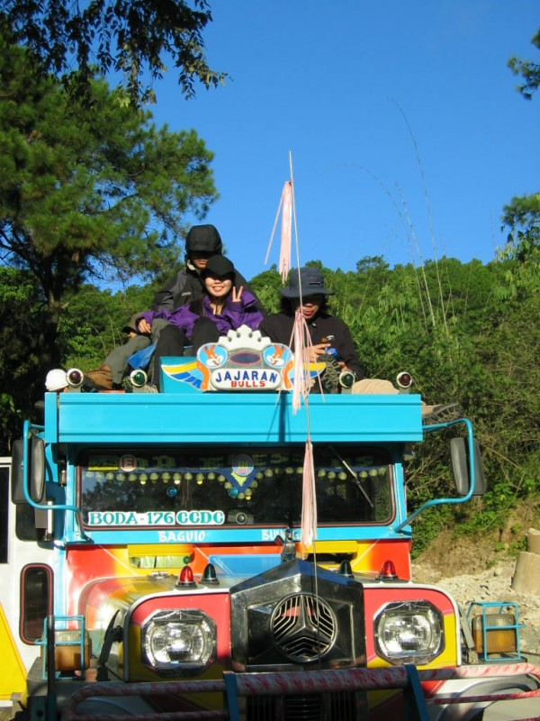 In the jeepney