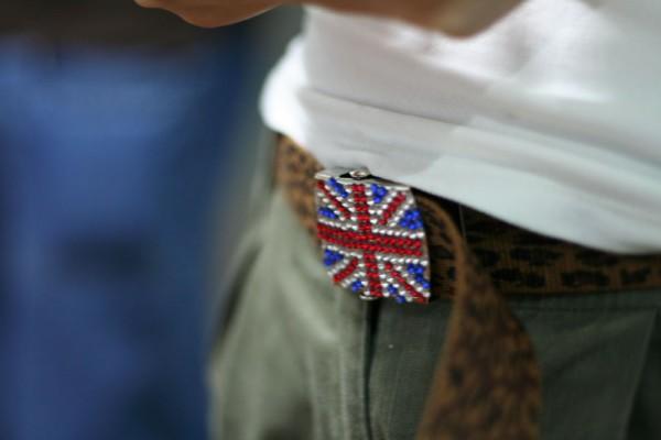 U.K. belt buckle