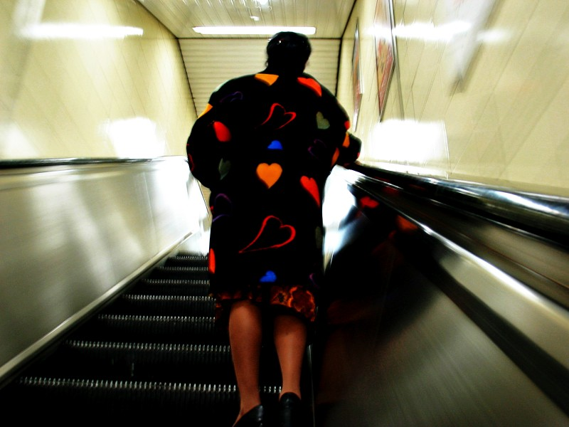 love is all around escalator