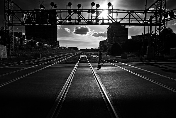 Dart across the tracks