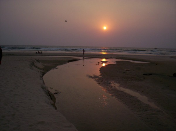 Utorda Beach Sunset, Goa
