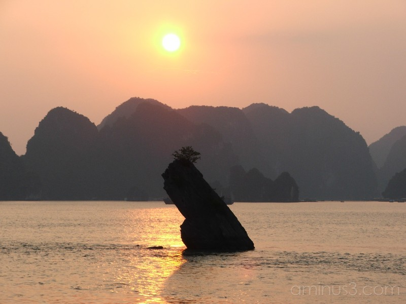 still dawn in Halong
