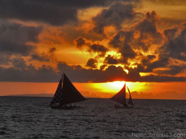 Sailing in Boracay