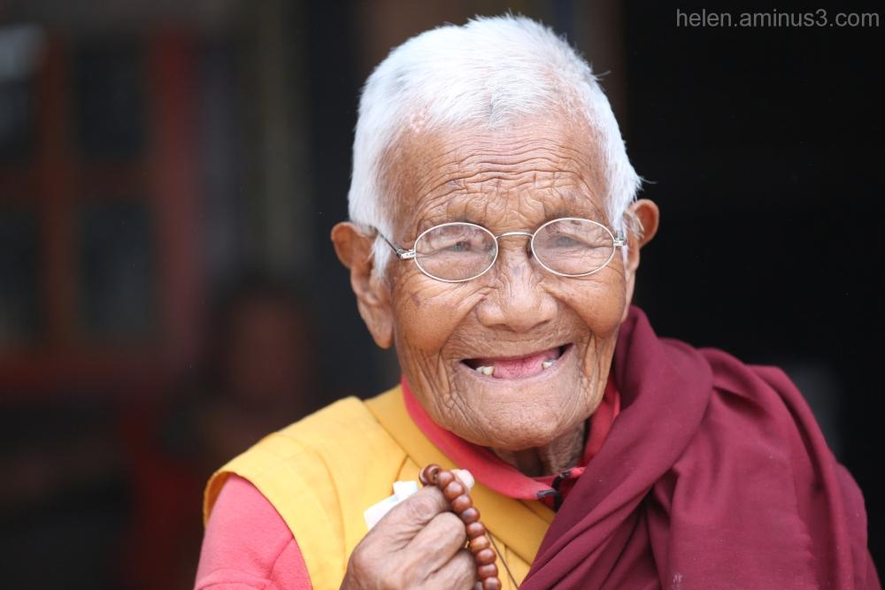 Old Nun - Kathmandu