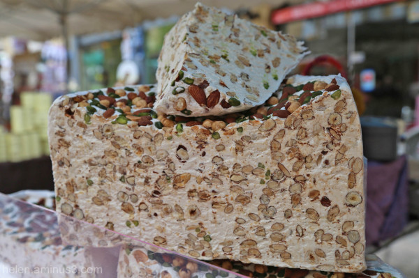 Pistachio, almond and hazelnut nougat