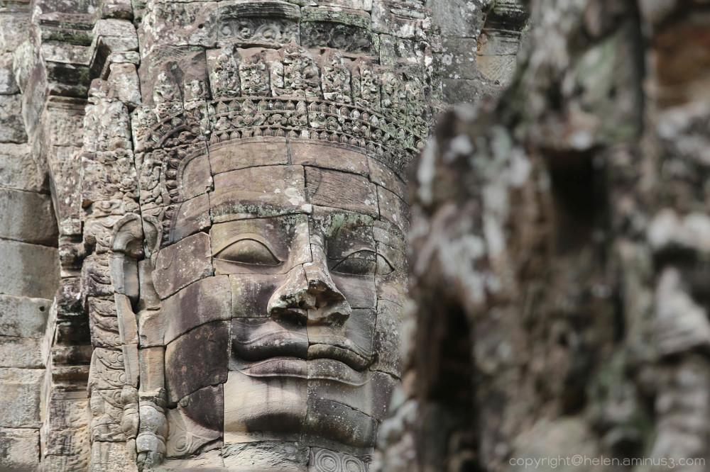Angkor Thom: Bayon temple (detail)