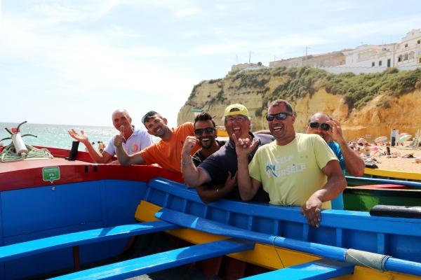 Happy fishermen